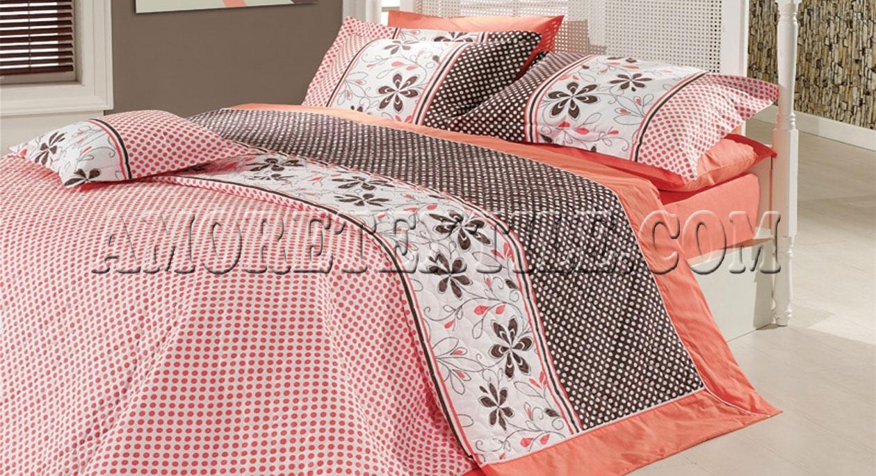 Летний постельный набор «Crystal Kahve Kapitone»