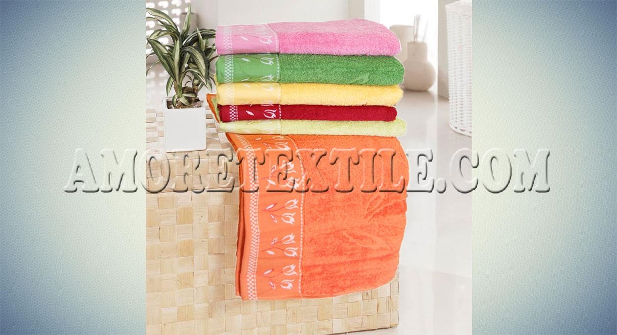 Набор махровых полотенец tulpan